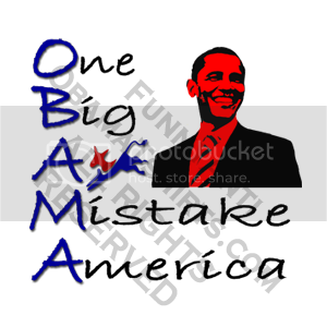 Funny Anti-Obama T-shirt: One Big Ass Mistake America